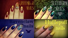 Harry Potter Houses with Sparkles and Crests
