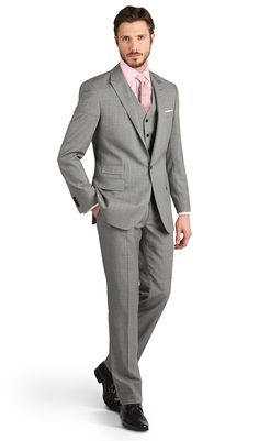 Timeless Traditional - A classic light grey three-piece has long been a popular wedding day option. But because traditional should never mean old fashioned, we're constantly updating our suits to bring you the most flattering fit possible.