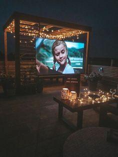 Backyard Movie Nights, Outdoor Movie Nights, Outdoor Cinema, Outdoor Theater, Theater Seating, Backyard Patio Designs, Backyard Landscaping, Patio Ideas, Backyard Ideas