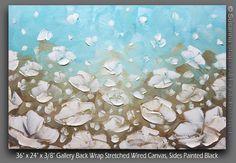 Abstract ORIGINAL Palette Knife Landscape Oil por ModernHouseArt