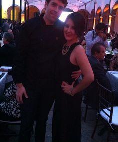 Con Cris (Chef Sommelier CRT), en la cena de gala del 20 Aniversario del CRT, gracias por estar al pendiente desde mi llegada al aeropuerto, muy guapa colega, quedo a la orden!!! Buena vibra!!! #chefcms #cabañas #cenagala