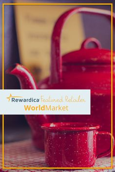 Sign up with Rewardica and earn 1.5% back in free gift cards when you shop World Market!