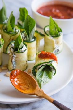 Recipe: Grilled Zucchini Roll-Ups with Ricotta and Herbs — Appetizer Recipes…