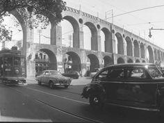 Os Arcos da Lapa em foto de 1962
