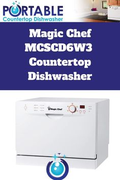 If you are familiar with Magic Chef, then you know they are dedicated to simple to use appliances. The Magic Chef MCSCD6W3 Countertop Dishwasher is certainly proof of that. This compact dishwasher is the perfect alternative for those without space or plumbing required for a standard-size dishwashing unit. It offers full-size power in a compact design and is easy to operate. Compact Dishwasher, Countertop Dishwasher, Countertops, Magic Chef, A 17, Plumbing, Washing Machine, Alternative