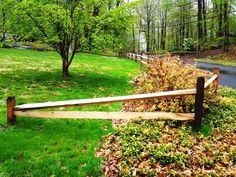 2-Rail Rustic Split Rail Fence