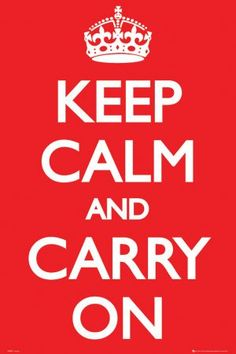 $1 Keep Calm and Carry On Poster Print, 24x36 Poster Print, 24x36