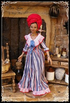 MARIE LAVEAU ooak Voodoo Queen Witch 1:12 doll by Soraya Merino