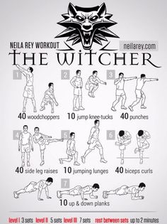 This burns! But it is such a great workout! I do this 2x a day and will build up to where I can do more reps! The witcher workout really shows results! Health and fitness!