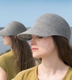 Ciel, leichte Kappe, Strohhut, stylisch Designermode Trend, Sportcap mit Schirm, womens straw hat, Stroh Cap, summer hats,Men's straw cap von NadaQuenzel auf Etsy