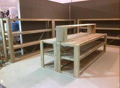 Winkelinrichting steigerhout