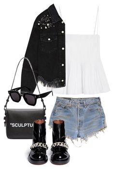"""""""Sin título #3956"""" by camilae97 ❤ liked on Polyvore featuring Levi's, Georgia Alice, Off-White, Givenchy and CÉLINE"""