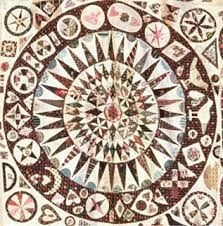 Made in 1850 by the Irish quit star Jane Pizar. The original of this quilt can be found in the museum in Cheltenham.  Petra Prins Patchwork