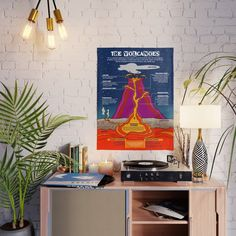 The Volcanoes Poster by grafokids Volcanoes, Blank Walls, Diy Frame, Cool Diy, High Quality Images, Vibrant Colors, Cool Stuff, Artwork, Poster