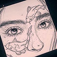 art sketchbook Art gallery online on Instagra - art Pencil Art Drawings, Art Drawings Sketches, Drawings Of Love, Drawings Of Faces, Sketches Of Girls, Drawings Of People, Sketches Of Love, Sketches Of People, Girl Pencil Drawing