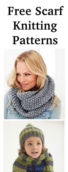 Lots of easy free scarf knitting patterns in one place form www.knitting-directory.com Beanie Pattern Free, Free Pattern, Knitting Books, Free Knitting, Easy Scarf Knitting Patterns, Chunky Knit Scarves, Easy Diy Crafts, Shawl, Crochet
