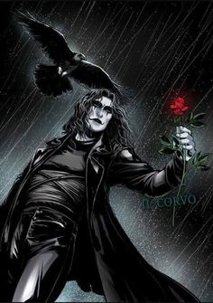 The Crow, Dark Fantasy Art, Dark Art, Image Psychedelic, Crow Movie, Brandon Lee, Bruce Lee, Crow Art, Arte Dc Comics