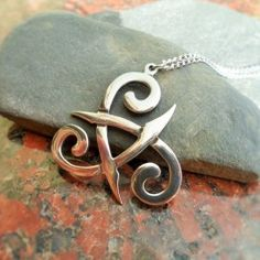 Pewter Trinity Spiral Celtic Pendant