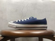 9c0b33ae5382 2018 Unisex Converse All Star Low 100 Colors OX Prussian Blue White Black  Real Converse All