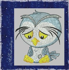 "Blue Owl - Machine Embroidery Designs Set for a Babies and Children of a series ""Old Toy"""