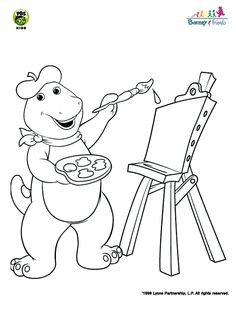 Cool Barney Coloring Book 57 Barney Coloring Page