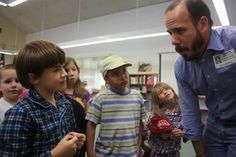 """""""Children's book author Chris Barton continues his tour around Hays CISD elementary campuses with a recent stop at Buda Elementary School."""""""
