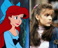 Ariel/Alyssa Milano  While actress Sherri Stoner was the live action model for Ariel from The Little Mermaid (1989) the animators were also inspired by then 16-year-old Alyssa Milano.