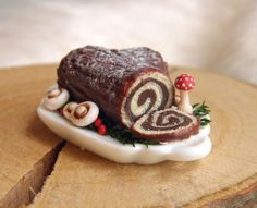 Buche De Noel / Yule Log Cake - A traditional dessert served during the Christmas holidays in France, Belgium, Quebec, Lebanon and several other Christian-populated francophone countries.