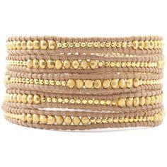 Chan Luu Black Leather Wrap Bracelet ($275) ❤ liked on Polyvore featuring jewelry, bracelets, chan luu, leather charm, beaded wrap bracelet, cameo charm, leather jewelry and wrap bracelet