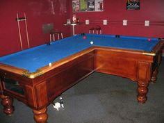Right Angle L-Shaped Pool Table