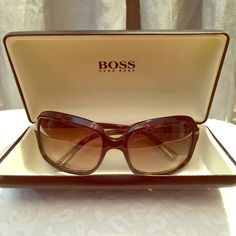 Hugo Boss Brown Sunglasses Never worn!! Super cute sunglasses for summer. Sold out everywhere online. Comes with protection case. Won't last!! Hugo Boss 0086/S Brown Shade Women's Fashion Sunglasses Hugo Boss Accessories Sunglasses