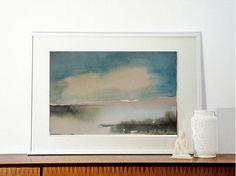 SALE  Gloaming on the Lake   Original watercolor by VESNAsART