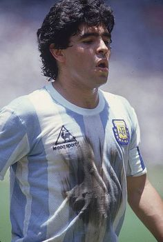 World Cup final, Closeup of ARG Diego Maradona during game vs FRG,. Football Images, Football Cards, Football Soccer, Football Shirts, Ronaldo, Messi Neymar, Ruud Gullit, Argentina Football, Diego Armando