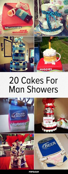 Huggies and Chuggies: 20 Cakes For Your Partner's Man Shower instead of beer it should be redbull or monster or even 5 hour energy shots Baby Shower For Men, Man Shower, Shower Bebe, Baby Shower Gifts, Funny Baby Shower Cakes, Baby Showers, Baby Shower Gender Reveal, Baby Shower Themes, Shower Ideas