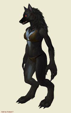 Worgen Female Model1: Shadow by frisket17 on DeviantArt