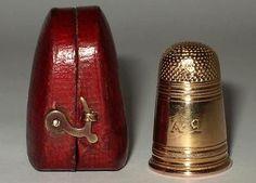 RARE French 18ct Gold Thimble Case Napoleon I Era CA 1810 | eBay
