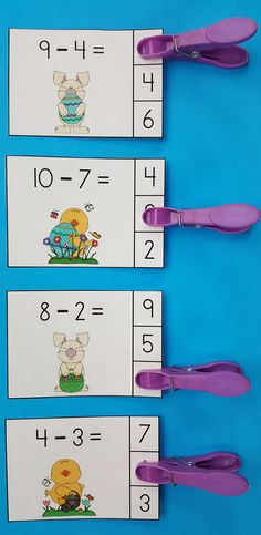 Easter Subtraction Fun for Your Little Learners!  Great for Morning Tubs, Early Finishers, Math Centers, Informal Assessment, and Take Home Practice! $   #Easter #EasterMath #kampkindergarten #EasterActivities #Subtraction  https://www.teacherspayteachers.com/Product/Easter-Eggs-travaganza-Subtraction-Math-Centers-Minuends-to-10-1157611
