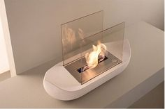 Cool Fireplace Design Ideas by Acquaefuoco : Cool Fireplace Design Ideas By Acquaefuoco With Unique Square Design Ethanol Fireplace, Small Fireplace, Fireplace Design, Fireplace Mantels, Mounted Fireplace, White Fireplace, Fireplace Wall, Fireplace Pictures, Garden Design