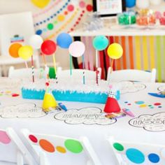 {Rainbow Paint & Polka Dot} Paint Themed Birthday Party with awesome