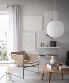 Beige and grey living room with a clean look - via Coco Lapine Design blog