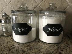 Kitchen Canister Labels