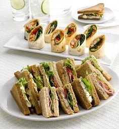 Sandwich and wrap platter #food
