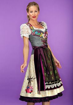 Lollipop & Alpenrock Collection by Lola Paltinger. Have you ever seen a more terrific Dirndl?  www.inside-munich.com