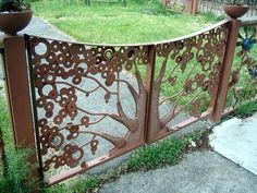 Garden Gate Screen Rusty Garden Metal Art Garden Ocean