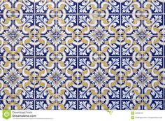 portuguese-tiles-background-traditional-blue-white-gold-