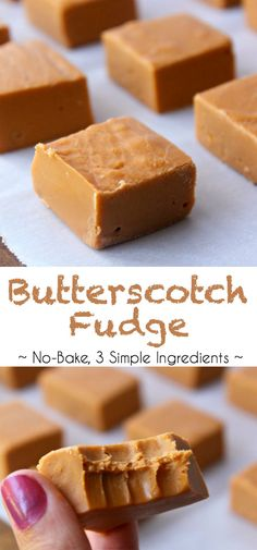 Easy Butterscotch Fudge With 3 Simple Ingredients. In addition This Is A No-Bake Fudge Recipe, Which Is Even Better. Easy And Delicious Baked Fudge Recipe, Maple Fudge Recipes, Candy Recipes, Baking Recipes, Sweet Recipes, Dessert Recipes, Butterscotch Fudge, Vanilla Fudge, Recipes With Butterscotch Chips
