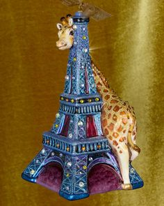 Eiffel+Tower+&+Giraffe+Christmas+Ornament+by+Jay+Strongwater+at+Neiman+Marcus.