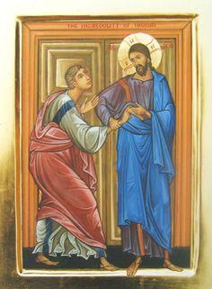 Apparizione di Cristo Risorto a  Tommaso e Apostoli