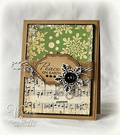 Music paper with fun color combo for Christmas by Pickled Paper Designs: Viva La Verve!