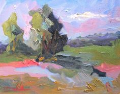 #ad Blue sky landscape oil painting impressionism Delilah art http://rover.ebay.com/rover/1/711-53200-19255-0/1?ff3=2&toolid=10039&campid=5337950191&item=263555896502&vectorid=229466&lgeo=1